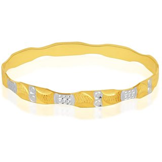 Vivaaha Rhodium Plated Yellow Sterling Silver Bangle For Women-GF24042