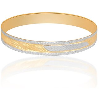 Vivaaha Rhodium Plated Yellow Sterling Silver Bangle For Women-GF24047