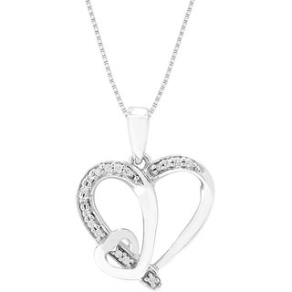 Viola Rhodium Plated WhiteSterling Silver Pendant  For Women-PF20858