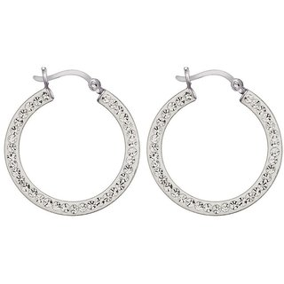 Love Universe Rhodium Plated White Sterling Silver Earring For Women-EF16402