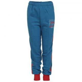 Haig-Dot Blue Close Bottom Track Pant For Girls