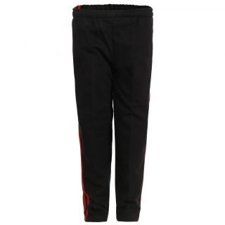 Haig-Dot Black Open Bottom Track Pant For Girls