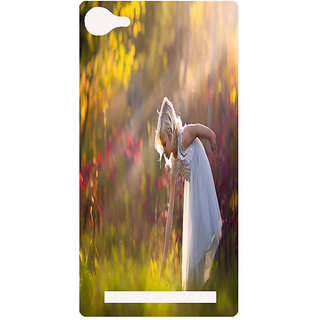 Amagav Printed Back Case Cover for Lyf Wind 1 73LfyWind1