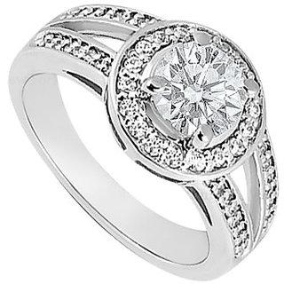 Cubic Zirconia Engagement Ring 14K White Gold 2.50 CT TGW (Option - 2)