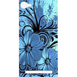 Amagav Printed Back Case Cover for Lyf Flame 8 431-LfyFlame8