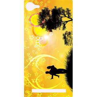 Amagav Printed Back Case Cover for Lyf Flame 8 432-LfyFlame8