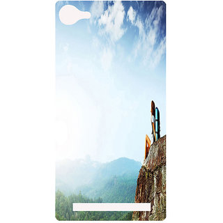 Amagav Printed Back Case Cover for Lyf Flame 8 208-LfyFlame8