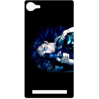 Amagav Printed Back Case Cover for Lyf Flame 8 104-LfyFlame8