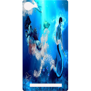 Amagav Printed Back Case Cover for Lyf Flame 8 146-LfyFlame8