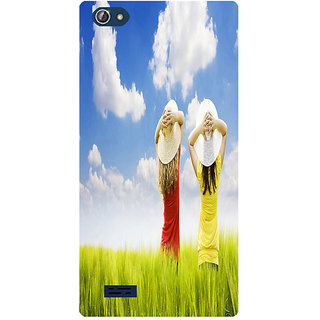 Amagav Printed Back Case Cover for Lava X50 161LavaX50