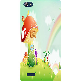 Amagav Printed Back Case Cover for Lava X50 167LavaX50
