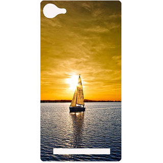 Amagav Printed Back Case Cover for Lyf Flame 8 395-LfyFlame8