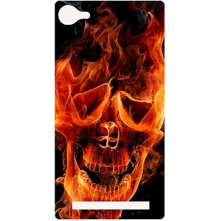 Amagav Printed Back Case Cover for Lyf Flame 8 625-LfyFlame8
