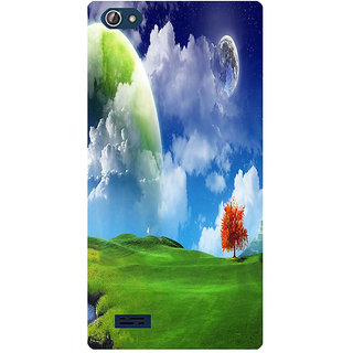 Amagav Printed Back Case Cover for Lava X50 283LavaX50