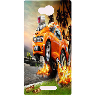 Amagav Printed Back Case Cover for Lava A68 85LavaA68