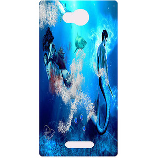 Amagav Printed Back Case Cover for Lava A59 146LavaA59