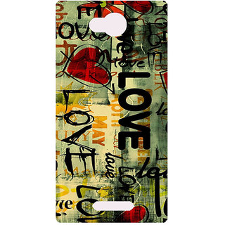 Amagav Printed Back Case Cover for Lava A68 199LavaA68