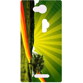 Amagav Printed Back Case Cover for Lava A68 391LavaA68