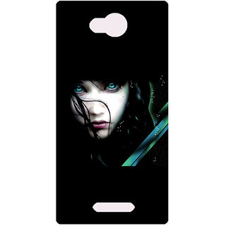Amagav Printed Back Case Cover for Lava A59 471LavaA59