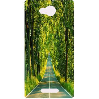 Amagav Printed Back Case Cover for Micromax Canvas Spark 3 64MmSpark3