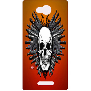 Amagav Printed Back Case Cover for Lava A59 96LavaA59