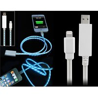 Data Transmission & Charging Cable With LED Light For IPhone 5, IPod Touch 5
