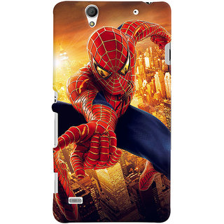 ColourCrust Sony Xperia C4 / Dual Sim Mobile Phone Back Cover With Spiderman - Durable Matte Finish Hard Plastic Slim Case