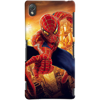 ColourCrust Sony Xperia Z3 Compact / Mini Mobile Phone Back Cover With Spiderman - Durable Matte Finish Hard Plastic Slim Case