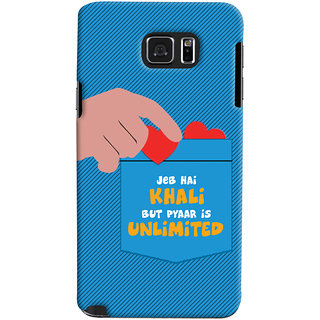 ColourCrust Samsung Galaxy Note 5 Mobile Phone Back Cover With Jeb he Khaali - Durable Matte Finish Hard Plastic Slim Case