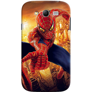ColourCrust Samsung Galaxy Grand Neo Plus Mobile Phone Back Cover With Spiderman - Durable Matte Finish Hard Plastic Slim Case