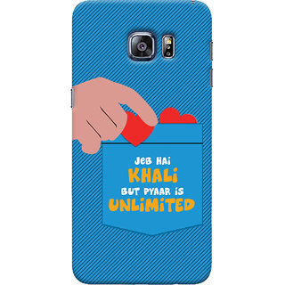 ColourCrust Samsung Galaxy S6 Edge Mobile Phone Back Cover With Jeb he Khaali - Durable Matte Finish Hard Plastic Slim Case