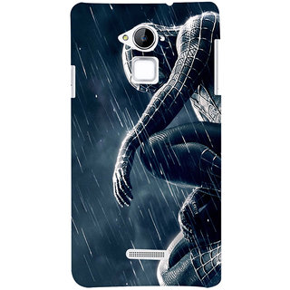 ColourCrust Coolpad Note 3 Mobile Phone Back Cover With Black Spiderman - Durable Matte Finish Hard Plastic Slim Case