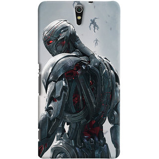 ColourCrust Sony Xperia C5 /Ultra Dual Sim Mobile Phone Back Cover With Ultron Back - Durable Matte Finish Hard Plastic Slim Case