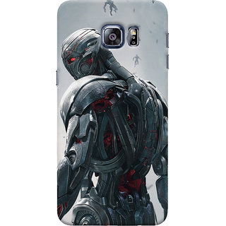 ColourCrust Samsung Galaxy S6 Edge Mobile Phone Back Cover With Ultron Back - Durable Matte Finish Hard Plastic Slim Case