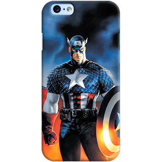 ColourCrust Apple iPhone 6S Mobile Phone Back Cover With Captain America - Durable Matte Finish Hard Plastic Slim Case