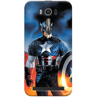 ColourCrust Asus Zenfone 2 Laser ZE500KL Mobile Phone Back Cover With Captain America - Durable Matte Finish Hard Plastic Slim Case