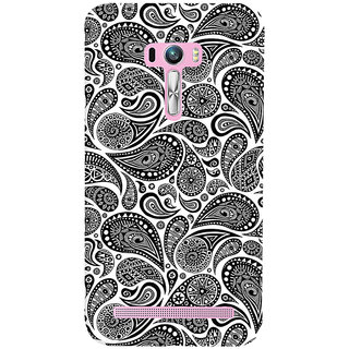 ColourCrust Asus Zenfone Selfie ZD551KL Mobile Phone Back Cover With Black & white pattern - Durable Matte Finish Hard Plastic Slim Case