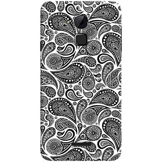 ColourCrust Coolpad Note 3 Lite Mobile Phone Back Cover With Black & white pattern - Durable Matte Finish Hard Plastic Slim Case