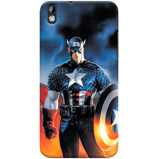 ColourCrust HTC Desire 816 / 816G Dual Sim Mobile Phone Back Cover With Captain America - Durable Matte Finish Hard Plastic Slim Case