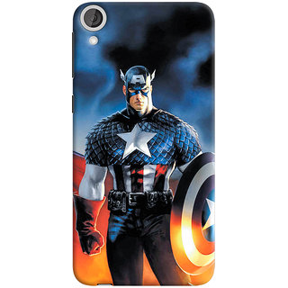ColourCrust HTC Desire 820 Mobile Phone Back Cover With Captain America - Durable Matte Finish Hard Plastic Slim Case