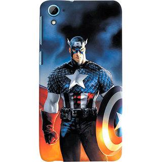 ColourCrust HTC Desire 826/Dual Sim Mobile Phone Back Cover With Captain America - Durable Matte Finish Hard Plastic Slim Case