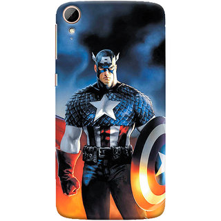 ColourCrust HTC Desire 828 / Dual Sim Mobile Phone Back Cover With Captain America - Durable Matte Finish Hard Plastic Slim Case