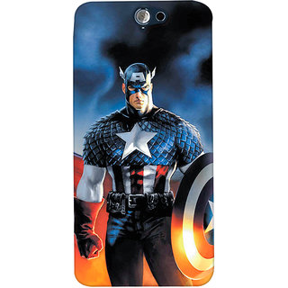 ColourCrust HTC One A9 Mobile Phone Back Cover With Captain America - Durable Matte Finish Hard Plastic Slim Case