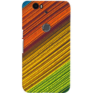 ColourCrust Huawei Google Nexus 6P Mobile Phone Back Cover With D287 - Durable Matte Finish Hard Plastic Slim Case