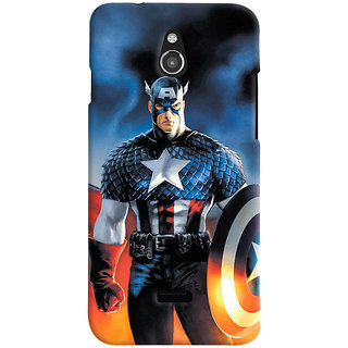 ColourCrust Infocus M2 Mobile Phone Back Cover With Captain America - Durable Matte Finish Hard Plastic Slim Case