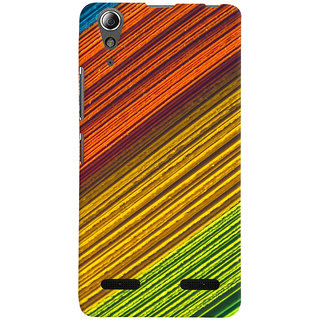 ColourCrust Lenovo A6000 Mobile Phone Back Cover With D287 - Durable Matte Finish Hard Plastic Slim Case