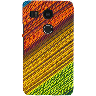 ColourCrust LG Google Nexus 5X Mobile Phone Back Cover With D287 - Durable Matte Finish Hard Plastic Slim Case