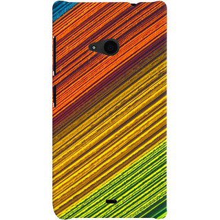 ColourCrust Microsoft Lumia 535 / Dual Sim Mobile Phone Back Cover With D287 - Durable Matte Finish Hard Plastic Slim Case
