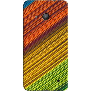 ColourCrust Microsoft Lumia 550 Mobile Phone Back Cover With D287 - Durable Matte Finish Hard Plastic Slim Case