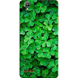 ColourCrust Oppo F1 Mobile Phone Back Cover With Green Flower Shape Leaves - Durable Matte Finish Hard Plastic Slim Case